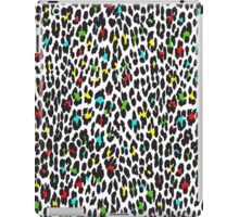 Animal Print, Spotted Leopard - Yellow Blue Green  iPad Case/Skin
