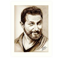 Richard Armitage, shining, sepia Art Print