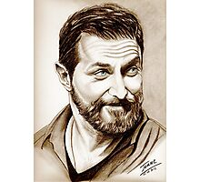 Richard Armitage, shining, sepia Photographic Print