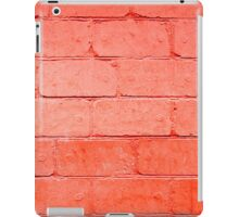 Red background of bricks with a layer of paint closeup iPad Case/Skin