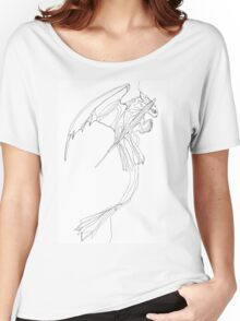 Toothless - Continuous Fine Line Women's Relaxed Fit T-Shirt