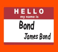 Hello My Name is Bond, James Bond Name Tag Kids Clothes