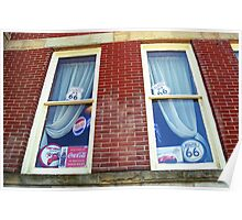 Route 66 - Windows and Drapes Poster
