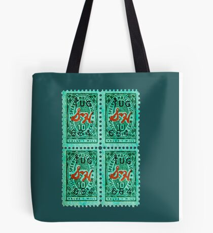 Green Stamps Tote Bag