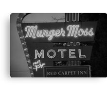 Route 66 - Munger Moss Motel Canvas Print