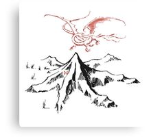 Smaug and the mountain Canvas Print