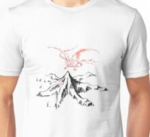 Smaug and the mountain Unisex T-Shirt