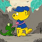 Ferald and A Baby Lizard by Keith Williams