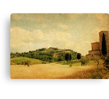 Heavenly Moment in Tuscany-Montalcino Canvas Print