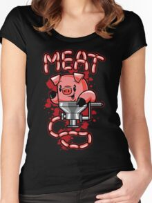Nice to Meat You! Women's Fitted Scoop T-Shirt