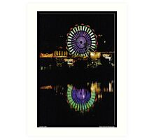 Ferris Wheel Reflections Art Print