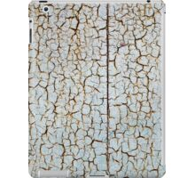 Rusty metal surface is covered with a thick layer of paint iPad Case/Skin