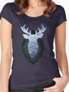 Taxidermy in the sky Women's Fitted Scoop T-Shirt