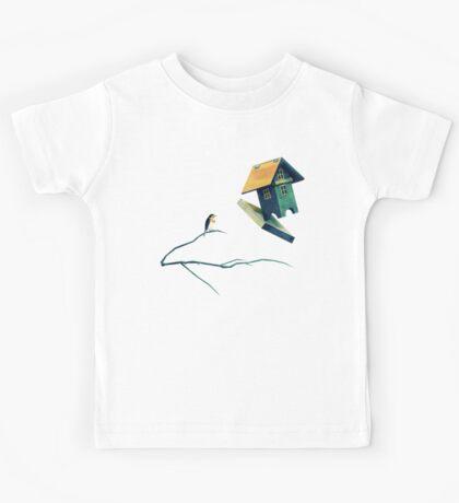 Flying Bird...house Kids Tee