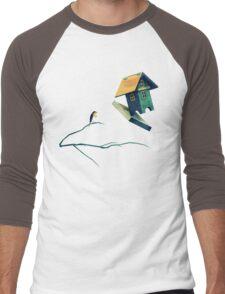 Flying Bird...house Men's Baseball ¾ T-Shirt