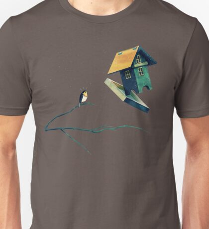 Flying Bird...house Unisex T-Shirt