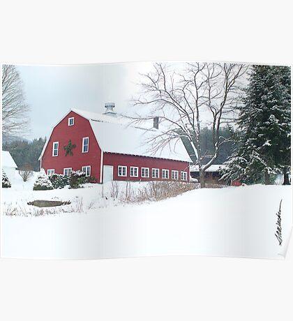 Holiday Barn Poster