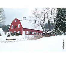 Holiday Barn Photographic Print