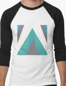Triangle Mountain Black Men's Baseball ¾ T-Shirt