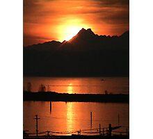Sunset over Port Gardner Bay Photographic Print