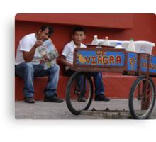 The Miracle Of Hot Mexican Food - El Milagro De Las Picantes Comidas Mexicanas Canvas Print