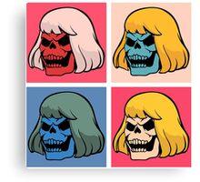 Skeleton Warhol Canvas Print