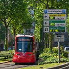 Tram in Düsseldorf, Germany. by David A. L. Davies