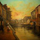 Evening Glow, Granville from Eugene Galien Laloue c. 1920 by Jsimone