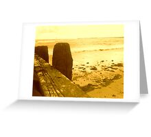OLD WOOD AND SEA AND SANDS Greeting Card