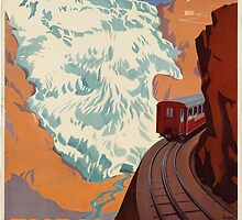 Vintage poster - Switzerland by mosfunky