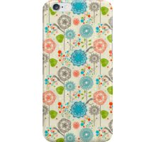 Cute Pastel Tones Retro Floral Pattern iPhone Case/Skin