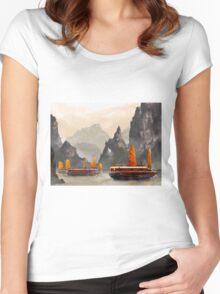 Ha Long Bay Women's Fitted Scoop T-Shirt
