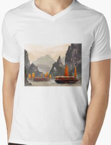 Ha Long Bay Mens V-Neck T-Shirt
