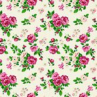 Pink Flowers On White Background by artonwear