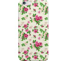 Pink Flowers On White Background iPhone Case/Skin