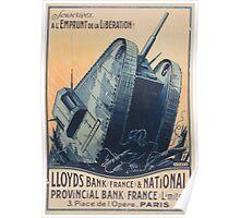 Souscrivez a lEmprunt de la Liboeration! Lloyds Bank France and National Provincial Bank France Limited Poster