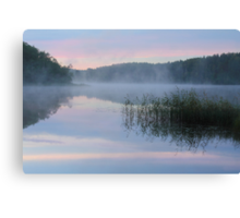 Dawn at the Lake Seliger Canvas Print