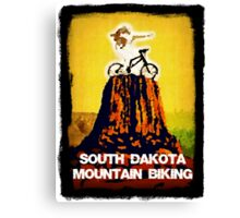 South Dakota Mountain Biking Canvas Print