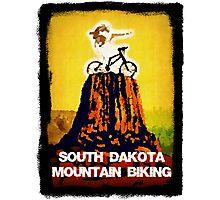 South Dakota Mountain Biking Photographic Print
