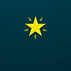 Gold Star, on Dark Cyan by helveticate