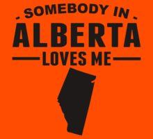 Somebody In Alberta Loves Me Kids Tee