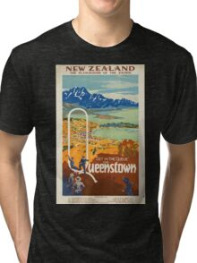 Vintage poster - New Zealand Tri-blend T-Shirt