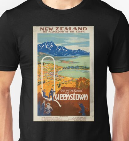 Vintage poster - New Zealand Unisex T-Shirt