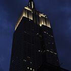 Empire State Building at dusk by Jill Vadala