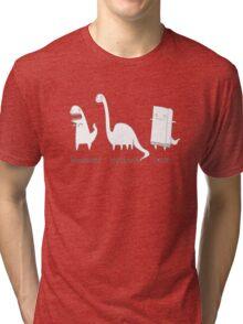 Tyrannosaurus Brontosaurus Thesaurus Tri-blend T-Shirt