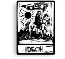 Death Card  - Tarot Cards - Major Arcana Canvas Print