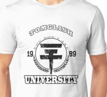 Tomglish University | BLACK TEXT Unisex T-Shirt