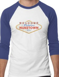 welcome to nuketown Men's Baseball ¾ T-Shirt