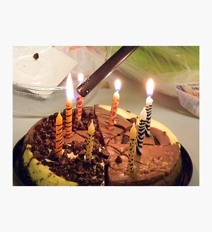 Lighting the Birthday Cheesecake! Photographic Print