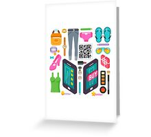 Proximity Shop Concept Isometric Greeting Card